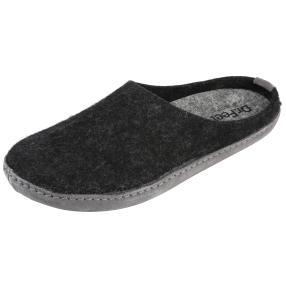 Dr. Feet Herren-Hausschuhe, schwarz