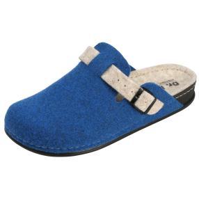 Dr. Feet Damen-Hausschuhe, blau