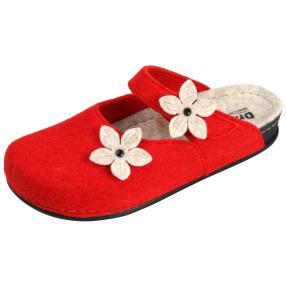 Dr. Feet Damen-Hausschuhe, rot