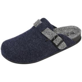 Dr. Feet Herren-Hausschuhe, dunkelblau
