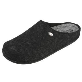 Dr. Feet Herren-Hausschuhe, anthrazit