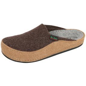 Dr. Feet Herren-Hausschuhe, dunkelbraun