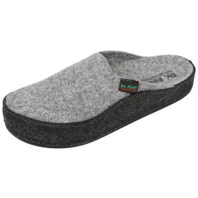 Dr. Feet Herren-Hausschuhe, grau