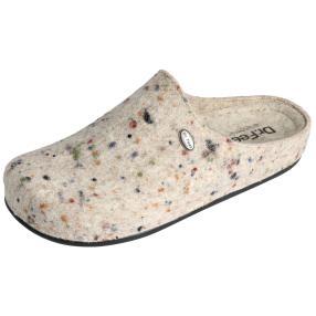Dr. Feet Damen-Hausschuhe, creme