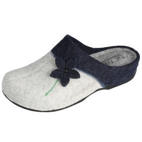 Dr. Feet Damen-Hausschuhe, weiß