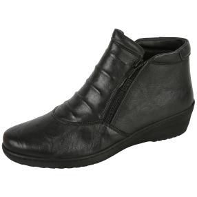 Dr. Feet Nappaleder Damen-Stiefelette, schwarz