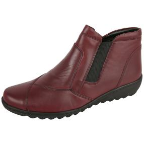 Dr. Feet Nappaleder Damen-Stiefelette, bordeaux