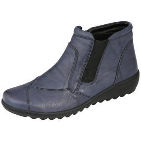 Dr. Feet Nappaleder Damen-Stiefelette, navy