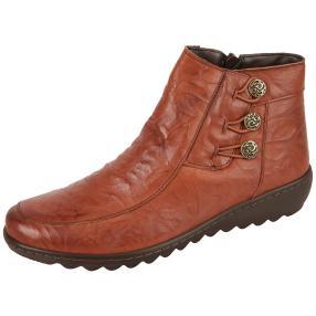 Dr. Feet Nappaleder Stiefelette, cognac
