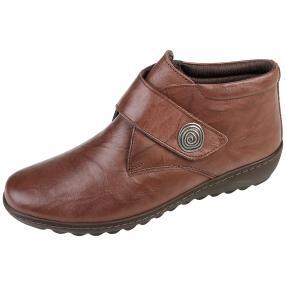 Dr. Feet Nappaleder Damen-Stiefelette, dunkelbraun
