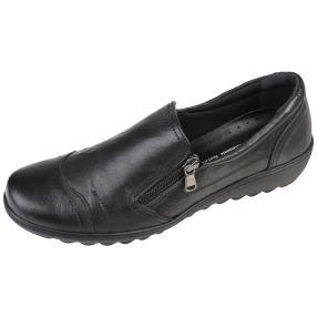 Dr. Feet Nappaleder Damen-Slipper, schwarz