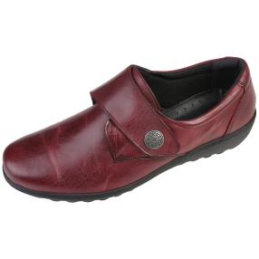 Dr. Feet Nappaleder Damen-Slipper, bordeaux