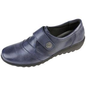 Dr. Feet Nappaleder Damen-Slipper, navy