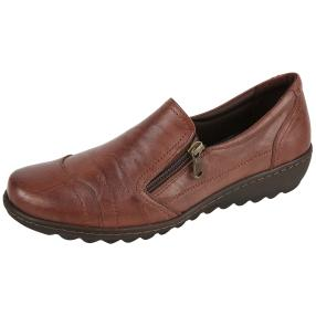 Dr. Feet Nappaleder Damen-Slipper, braun