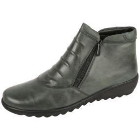 Dr. Feet Nappaleder Damen-Stiefelette, dunkelgrün