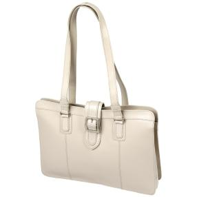 Bianci Vollnappa Shopper, beige