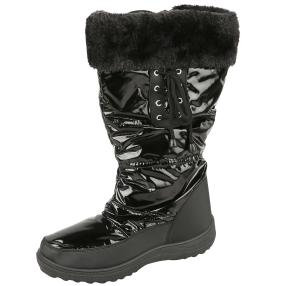 SNOWFUN Damen Boots Fell, schwarz