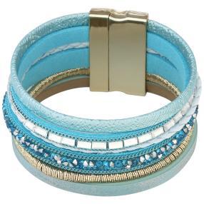 crystal blue Magnet-Armband, türkis