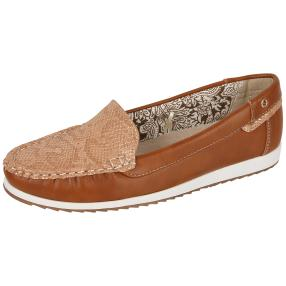 TOPWAY Damen-Slipper casual, cognac