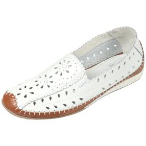 SANITAL LIGHT Damen Leder Slipper, weiß