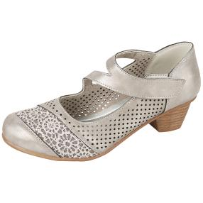 Step&Go Damen-Klettpumps, pewter