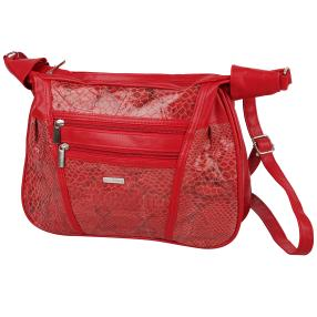 STEFANO Patch Tasche, rot
