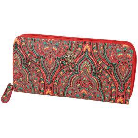 Longbörse mit RFID-Schutz Paisley, rot
