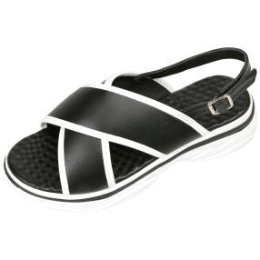 Claudia Ghizzani Damen Sneakersandalen LW, schwarz