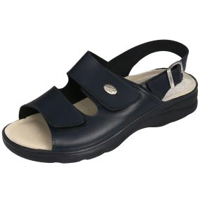 SANITAL LIGHT Herren Leder-Sandalen, navy