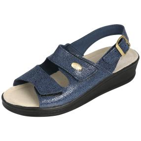 SANITAL LIGHT Damen Leder-Sandalen, blau