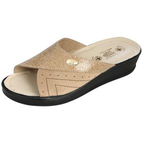 SANITAL LIGHT Leder-Pantolette, beige