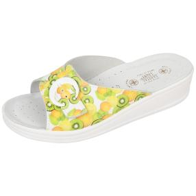 SANITAL LIGHT Damen-Leder-Pantolette, Fruits