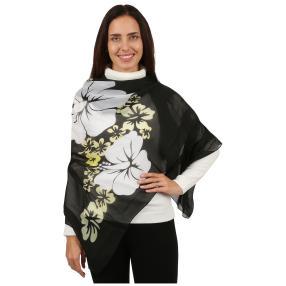 Schal Blossom, schwarz