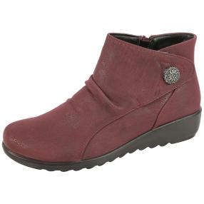 Cushion Walk Damen-Stiefeletten HARPER, weinrot