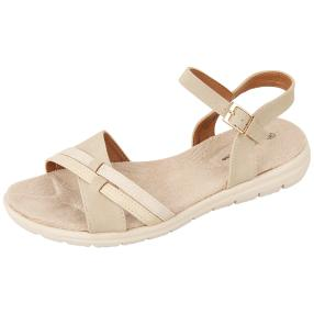 Claudia Ghizzani Damen-Sandalen supersoft beige