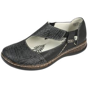 SUPER IN Damen Elastik-Slipper, schwarz