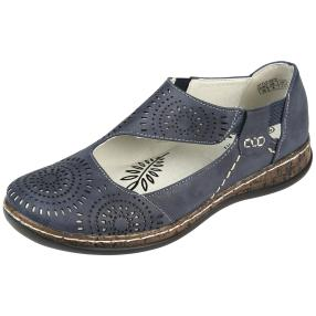 SUPER IN Damen Elastik-Slipper, navy