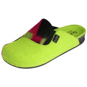 Dr. Feet Damen-Hausschuhe, grün