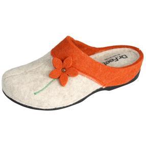 Dr. Feet Damen-Hausschuhe, beige