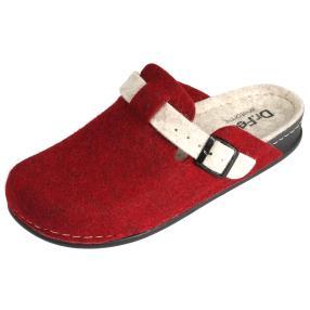 Dr. Feet Damen-Hausschuhe, bordeaux