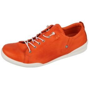 Andrea Conti Damen-Leder-Schnürer, orange