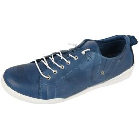 Andrea Conti Damen-Leder-Schnürer, jeansblau