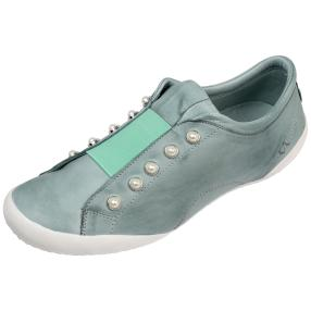 Andrea Conti Damen-Leder-Slipper, mint