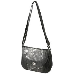 Marc Chantal Metallic Nappapatch Tasche, schwarz