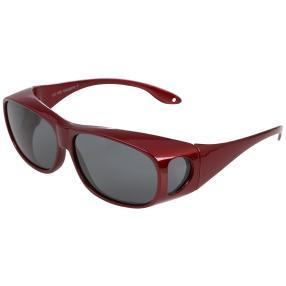 Übersonnenbrille, rot