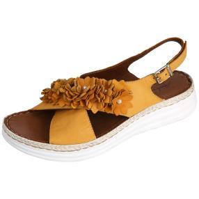 Andrea Conti Leder-Sandaletten, beige