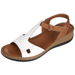 Andrea Conti Leder-Sandaletten, weiß