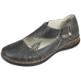 SUPER IN Damen Elastik-Slipper, dunkelgrau