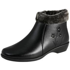 TOPWAY Damen-Stiefeletten, schwarz
