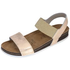 Dr. Feet Damen Leder-Sandaletten, roségold